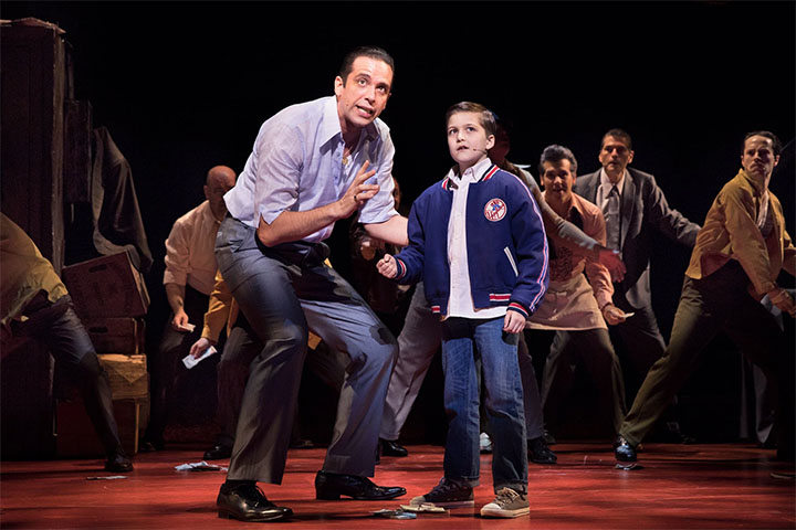 """Nick Cordero, left, as Sonny in the musical """"A Bronx Tale"""" in 2016"""